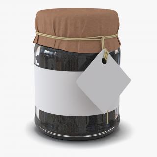 Black Tea In Glass Jar 3 3D model