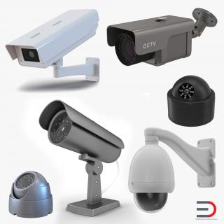3D model CCTV Cameras Collection 2