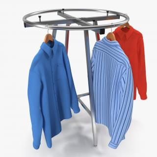 3D Round Clothing Rack 4