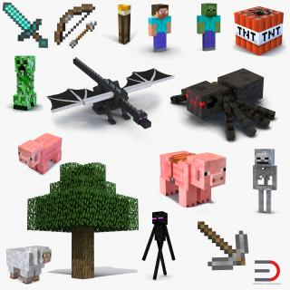 3D model Minecraft Collection