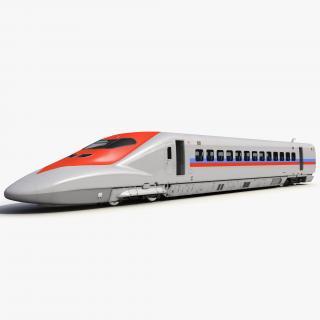 Speed Train Locomotive Generic Rigged 3D