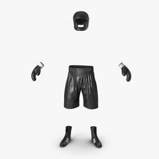 Boxing Gear Black 3D