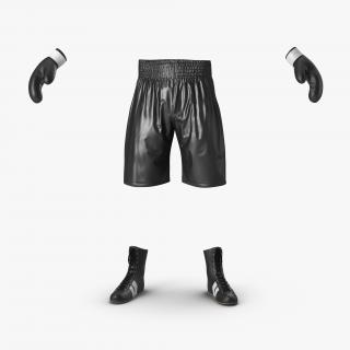 Boxing Gear Black 2 3D model