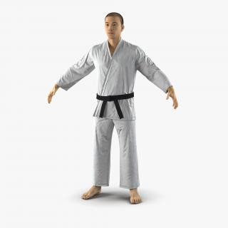 Japanese Karate Fighter with Fur 3D