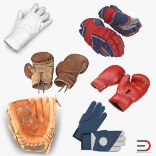 3D Sport Gloves Collection model