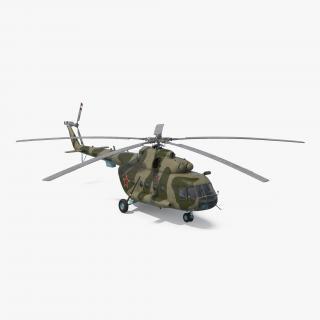 Mi-8 Hip Russian Millitary Medium Transport Helicopter 3D model