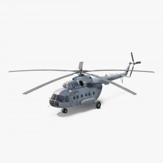 3D Mi-8 Hip United Nations Medium Transport Helicopter