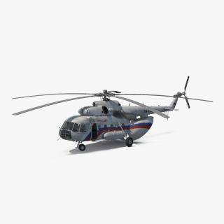 3D model Mil Mi-8 Hip Russian Medium Transport Helicopter Rigged