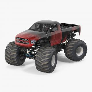 3D model Monster Truck Generic 2 Rigged