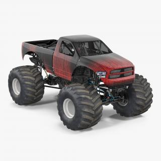 3D Monster Truck Generic 2 model