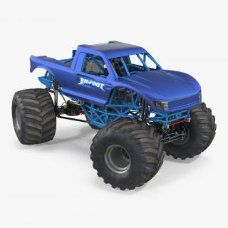 3D Monster Truck Bigfoot Generic Rigged