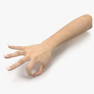 3D model Female Hand 3 Pose 4