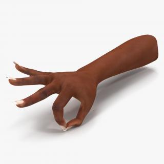 3D model Female Hand African American Pose 4