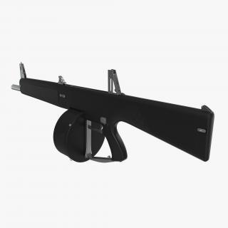 3D Auto Assault Shotgun AA-12 Round Drum Magazine