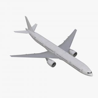 Boeing 777-300 Generic Rigged 3D model