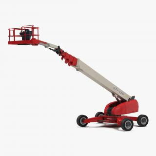 3D Telescopic Boom Lift Generic 4 Red Rigged