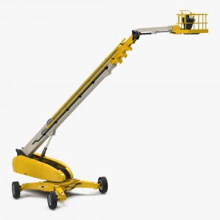 Telescopic Boom Lift Generic 4 Yellow Rigged 3D model