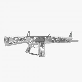 3D model Combat Shotgun AA-12 Round Drum Magazine