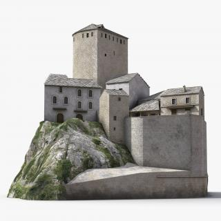 3D model Castle on the Hill 2