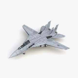3D model F-14 Tomcat US Combat Aircraft