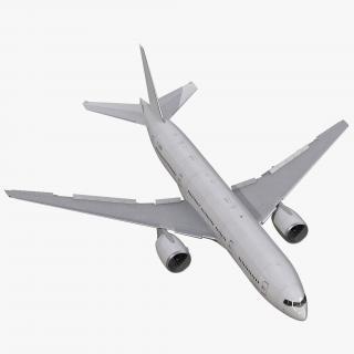 3D Boeing 777-200ER Generic Rigged