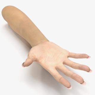 3D model Female Hand 3 Rigged