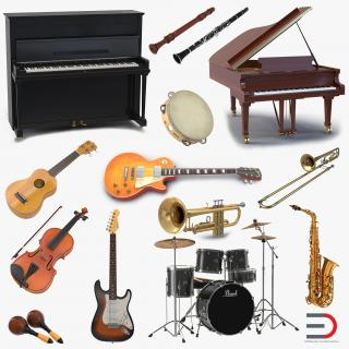 Musical Instruments Collection 2 3D