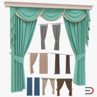 Curtains Collection 3D model