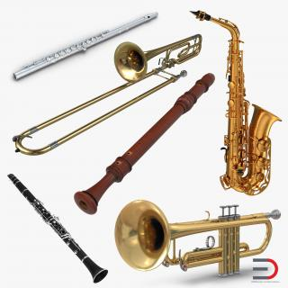3D Woodwind Instruments Collection