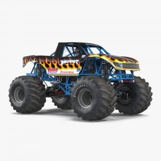 3D Monster Truck Bigfoot