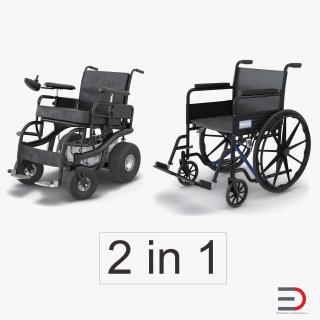 Wheelchairs Collection 2 3D model