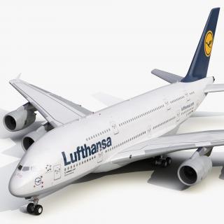 3D model Airbus A380-800 Lufthansa
