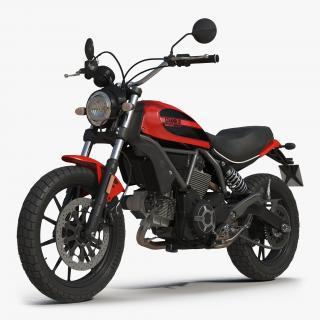 Motorcycle Ducati Scrambler Sixty2 3D model