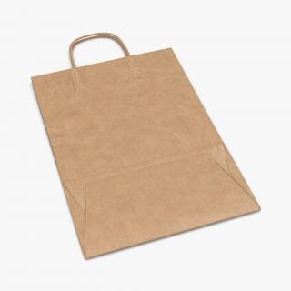 3D Paper Bag With Handle Folded model