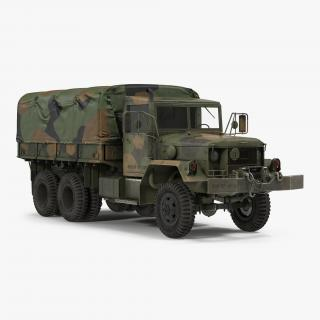 US Military Cargo Truck m35a2 Camo 3D model