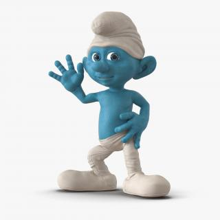 3D Smurf Rigged with Fur