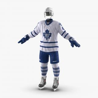3D Hockey Equipment Toronto Maple Leafs
