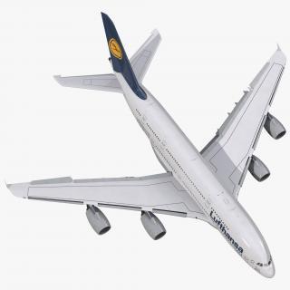 Airbus A380-800 Lufthansa Rigged 3D