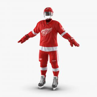Hockey Equipment Detroit Red Wings 3D model