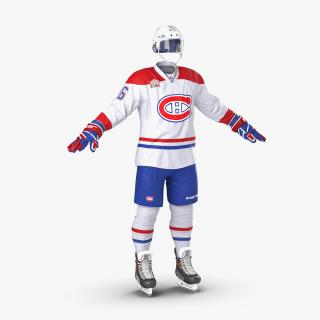 3D model Hockey Equipment Montreal Canadiens