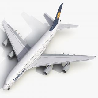 3D model Airbus A380-900 Lufthansa