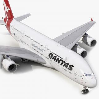 Airbus A380-900 Qantas 3D