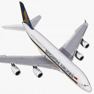 3D Airbus A380-900 Singapore Airlines Rigged