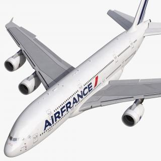 3D Airbus A380-900 Air France Rigged model