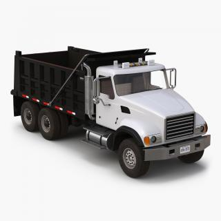 3D Dump Truck Mack Simple Interior
