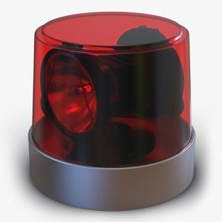 Warning Light Red 3D