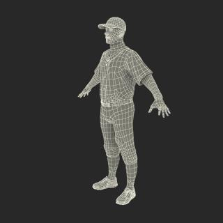 3D model Baseball Player Generic 5