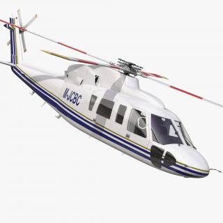 3D model Helicopter Sikorsky s76 Rigged