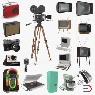 3D Retro Electronics Collection 3D Models model