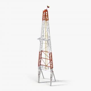 Fracking Gas Platform Tower 3D